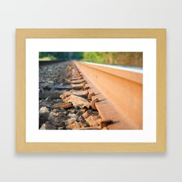 Trails with the Trains Framed Art Print