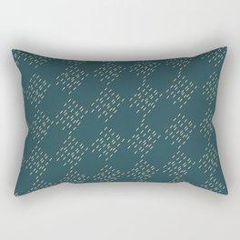 Petrol checkered pattern Rectangular Pillow