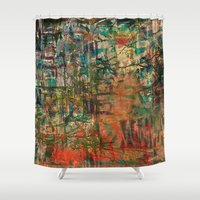 fez Shower Curtains featuring Pointless Conflict by Fernando Vieira