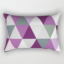 Big triangles lilac Rectangular Pillow