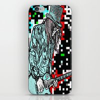 heavy metal iPhone & iPod Skins featuring Abstract Heavy Metal Rocks by Saundra Myles