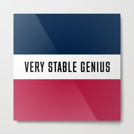 Very Stable Genius Metal Print