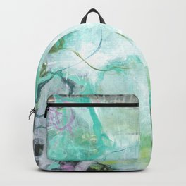 The Queen's Tear - Square Abstract Expressionism Backpack