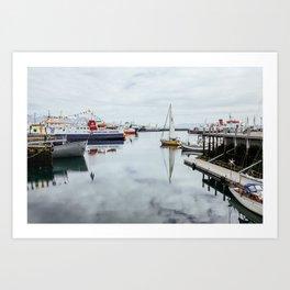 Iceland Harbor Art Print
