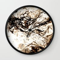 Bronze Abstract Wall Clock