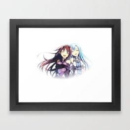 yuuki and asuna best friends till the end Framed Art Print