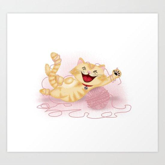 Naughty cat Art Print