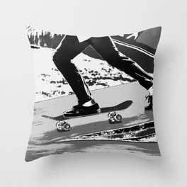 The Push-off  - Skateboarder Throw Pillow