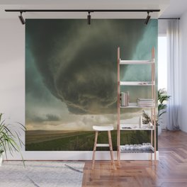 Beehive - Spiraling Storm Hovers Over Western Nebraska Landscape Wall Mural
