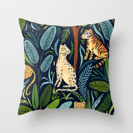 Jungle Cats Throw Pillow