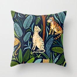 Jungle Cats Throw Pillow