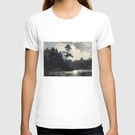 Adirondack Lake by Winslow Ho mer (1889) T-shirt