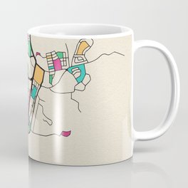 Colorful City Maps: Alice Springs, Australia Coffee Mug