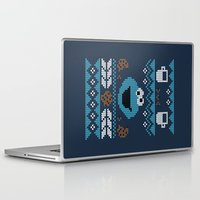cookie monster Laptop & iPad Skins featuring C is for Cookie! by filiskun