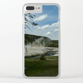 Firehole River And Geyser Area Clear iPhone Case