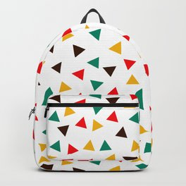 Mid-Century Mod, Mini Colorful Triangles Geometric Pattern Backpack