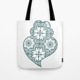 Traditionall portuguese Viana's heart and azulejo tiles background Tote Bag