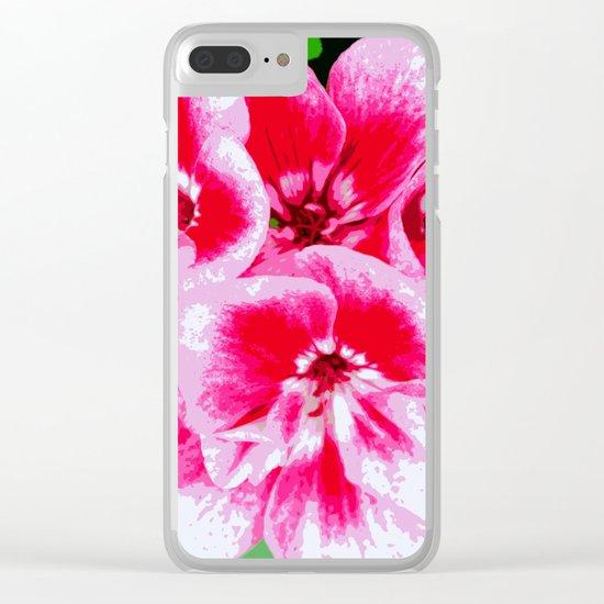 Flower | Flowers | Mod Pink Petals Clear iPhone Case