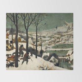 The Hunters in the Snow, Pieter Bruegel the Elder Throw Blanket
