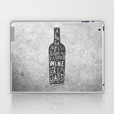 Hand lettering wine bottle typography Laptop & iPad Skin