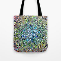 wasted rita Tote Bags featuring Wasted by 2tehmax