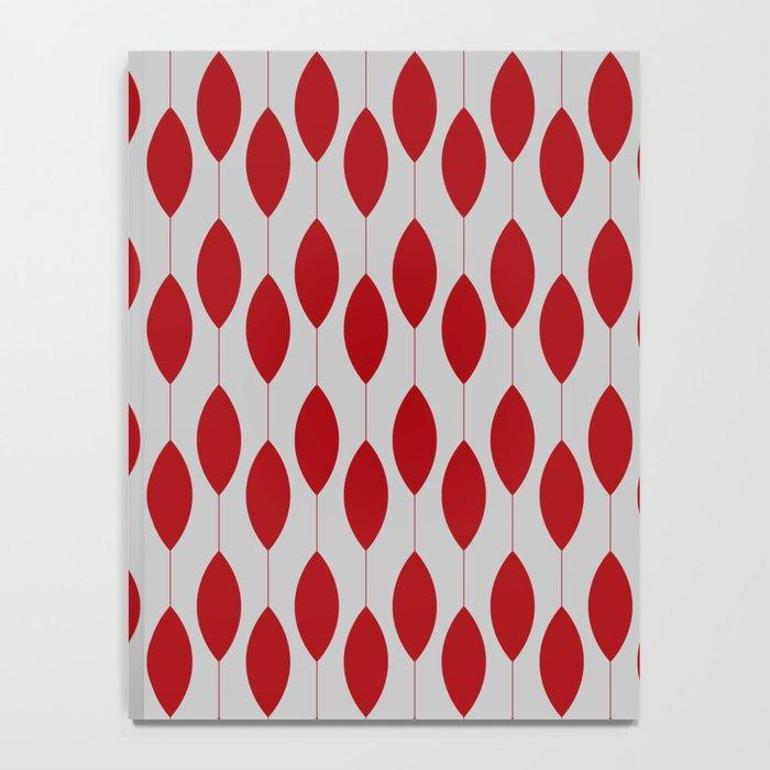 Rose petal drops modern pattern Notebook
