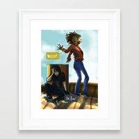 nico di angelo Framed Art Prints featuring Nico! by sharada
