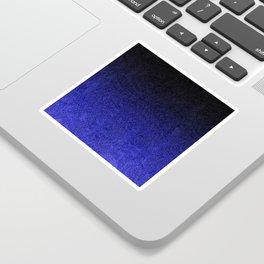 Blue & Black Glitter Gradient Sticker