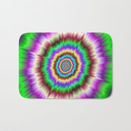 Color Explosion in Violet and Green Bath Mat