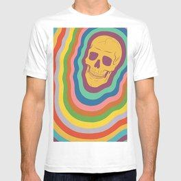 Trippy Rainbow Skull T-shirt