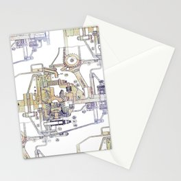 Mechanical Diagram Stationery Cards