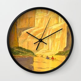 Kayaking The Colorado River In The Grand Canyon Wall Clock