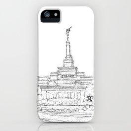 Reno Nevada LDS Temple Sketch iPhone Case
