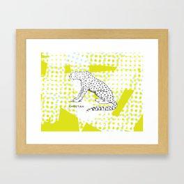 POP Cheetah Framed Art Print