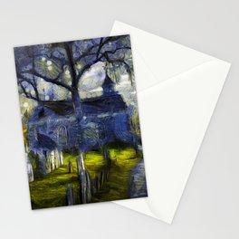 Sleepy Hollow Church Art Van Gogh Stationery Cards