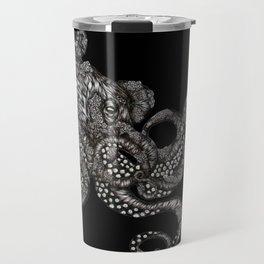 Barnacle Octopus in Black Travel Mug