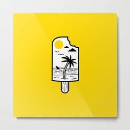Ice Cream Beach Metal Print