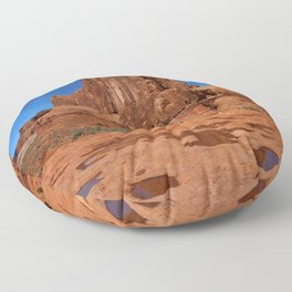 Red Rockformation in Arches NP Floor Pillow