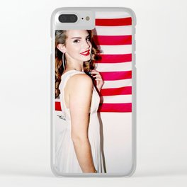 Lana Del Ray American Flag Clear iPhone Case