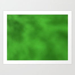Vivid Green Foil Rippled Texture, Holiday - Christmas Art Print