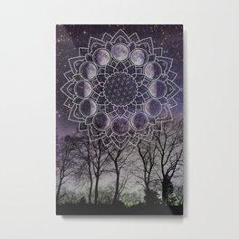 Purple Moon Phase Metal Print