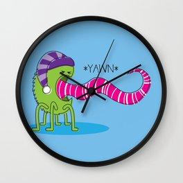 Even Monsters Get Sleepy Wall Clock