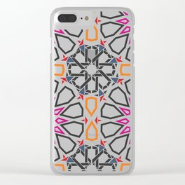 Moroccan Mosaic Colorful Clear iPhone Case