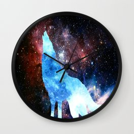 NOCTURNE : ASTRAL WOLF Wall Clock
