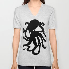 octopus 2 Unisex V-Neck