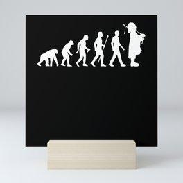 Evolution Bagpiper Bagpipe Motif Mini Art Print