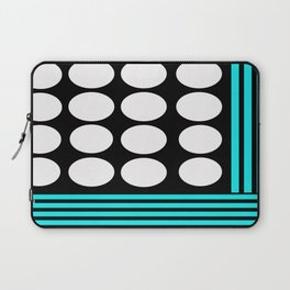 Desing pattern black and white followed by Tuerkies Laptop Sleeve