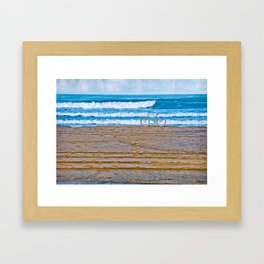 Beach Bike Framed Art Print