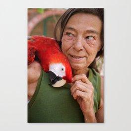 Parrot Love Canvas Print