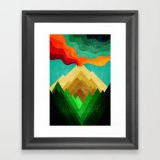 Colored Vulcan Framed Art Print